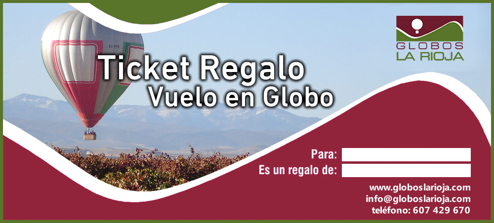 Ticket regalo volar en globo